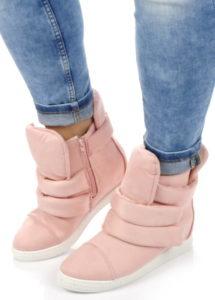 sneakersy damskie różowe