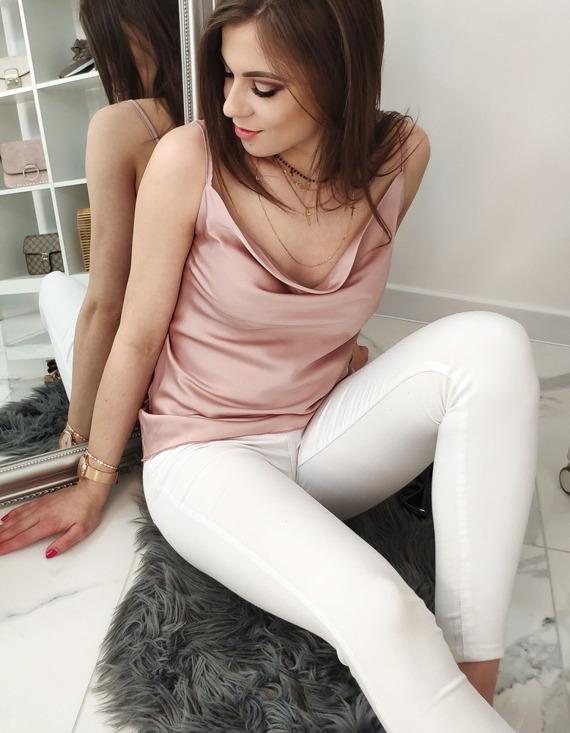 gładka bluzka damska różowa